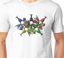 Rio de Janeiro skyline in various colors Unisex T-Shirt