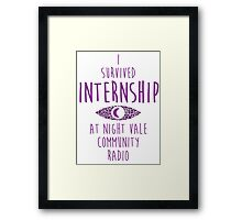 I survived Internship! Framed Print