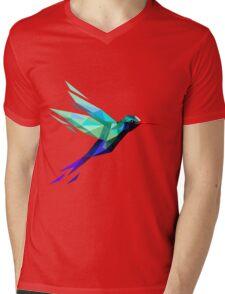 polygonal bird  Mens V-Neck T-Shirt