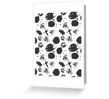 Black grunge ink stains Greeting Card