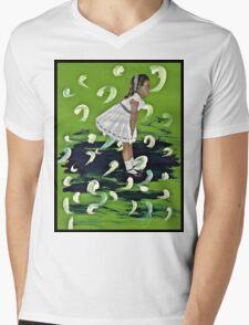 She Expels Art Mens V-Neck T-Shirt