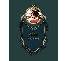 League of Legends - Akali Banner (Bloodmoon) Photographic Print