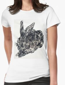 Bunny print v.1 Womens Fitted T-Shirt