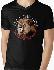 Cecil The Lion Mens V-Neck T-Shirt
