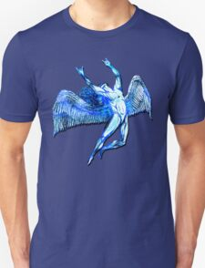 ICARUS THROWS THE HORNS - bright blue T-Shirt