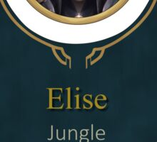 League of Legends Elise Banner (Victorious) Sticker