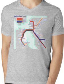 San Francisco BART Map Mens V-Neck T-Shirt