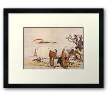 'Crazy Poetry' by Katsushika Hokusai (Reproduction) Framed Print
