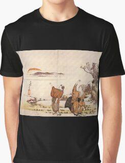 'Crazy Poetry' by Katsushika Hokusai (Reproduction) Graphic T-Shirt