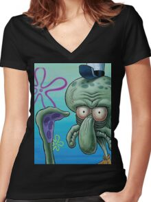 Does this look unsure to you? Women's Fitted V-Neck T-Shirt