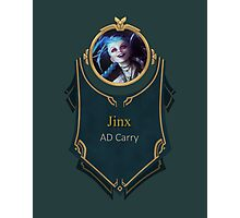 League of Legends - Jinx Banner Photographic Print