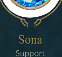 League of Legends - Sona Banner (Kinetic) Sticker