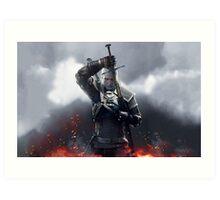 The Witcher III Work Geralt :) Art Print