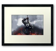 The Witcher III Work Geralt :) Framed Print
