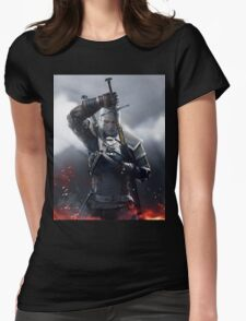 The Witcher III Work Geralt :) Womens Fitted T-Shirt
