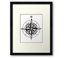 Dotwork Compass Mandala Framed Print