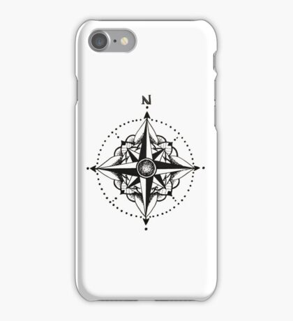 Dotwork Compass Mandala iPhone Case/Skin