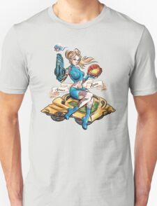 Pin Up Samus Bomber Girl T-Shirt