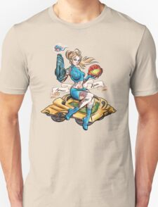 Pin Up Samus Bomber Girl Unisex T-Shirt