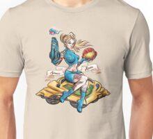 Pin Up Samus Bomber Girl Unisex T-Shirt
