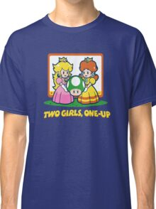Mario Bros. Two Girls, One Up  Classic T-Shirt