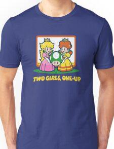 Mario Bros. Two Girls, One Up  Unisex T-Shirt