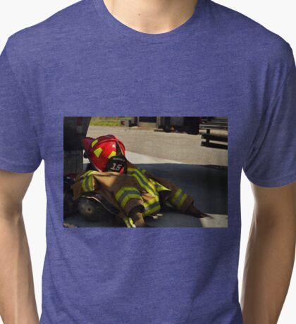 Turnout Gear Pile Tri-blend T-Shirt