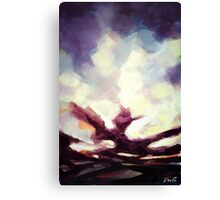 Shattered shades of sky Canvas Print