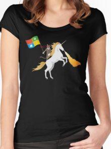 Ninja Cat Unicorn Women's Fitted Scoop T-Shirt