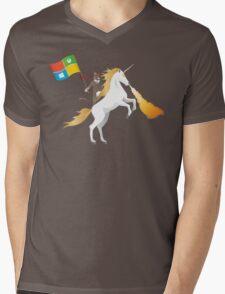Ninja Cat Unicorn Mens V-Neck T-Shirt