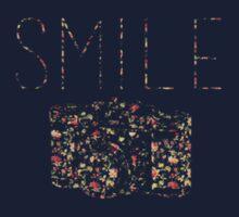 """Smile"" Vintage Camera One Piece - Short Sleeve"