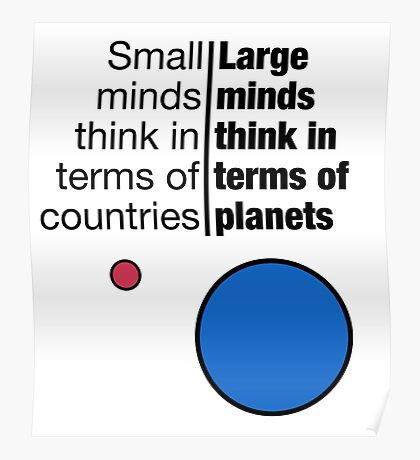 Small Minds and Large Minds Poster