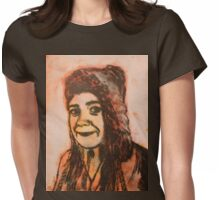 Girl print Womens Fitted T-Shirt