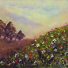 Wildflowers on a Hill by Robin Monroe