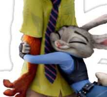 Nick and Judy Hug Sticker
