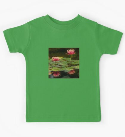 Impressions of pink lilies Kids Tee