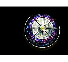 A Dazzling Stained Glass Jewel Emerging From the Darkness Photographic Print