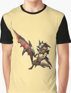 Monster Hunter Felyne Rathalos Armour Graphic T-Shirt