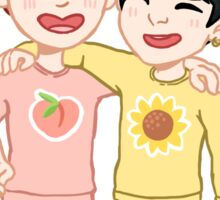 Peaches and Sunflowers Sticker