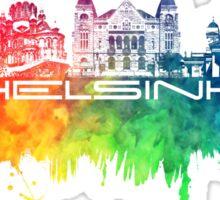 Helsinki skyline color Sticker