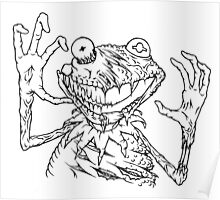 Zombie the Frog Poster