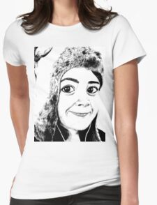 Girl portrait Womens Fitted T-Shirt