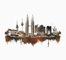 Kuala Lumpur skyline city brown One Piece - Long Sleeve