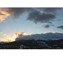 Cloudy Peak Sunrise #4 Photographic Print