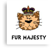 Fur Majesty Canvas Print