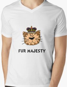 Fur Majesty Mens V-Neck T-Shirt