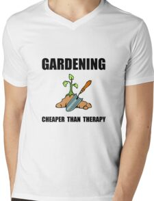 Gardening Therapy Mens V-Neck T-Shirt