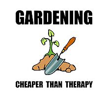 Gardening Therapy Photographic Print