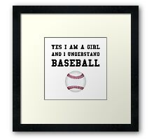 Girl Baseball Framed Print