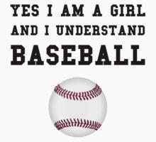 Girl Baseball Kids Tee